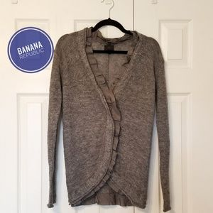 Banana Republic Heritage Grey Cardigan with detail